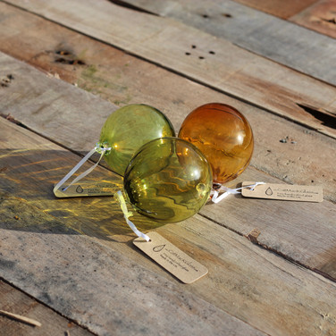 Citrus, Olive and Amber Optic Bauble