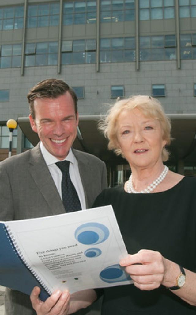 Dr Paul D'Alton and Marian Finucane outside St.Vincent's University Hospital, Dublin.