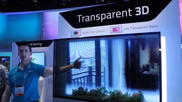 Las pantallas transparentes !
