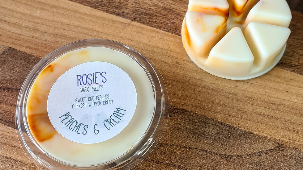 Peaches & Cream Scented Section Pot