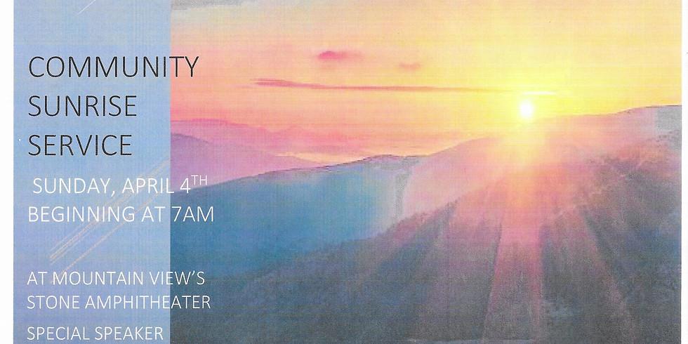 Community Easter Sunday Sunrise Service