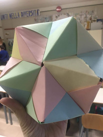 Origami made by 3rd graders.