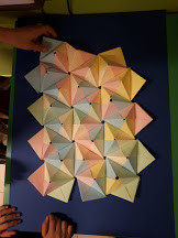 Origami made by third graders.