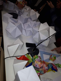 Origami made by the students.