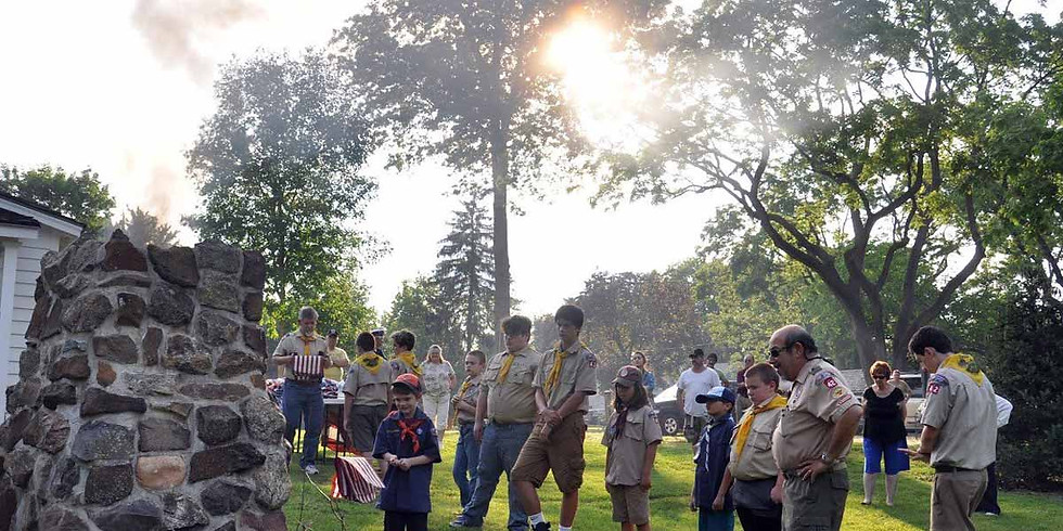 Boy Scout Troop 42 Retirement of Flags Ceremony @ The Abraham Staats House