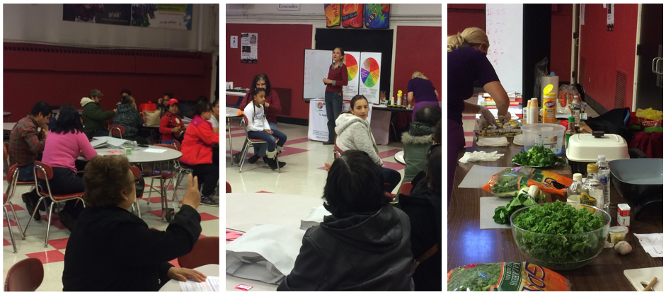 "Bound Brook and South Bound Brook residents learned about nutrition and prepared healthy snacks as part of ""Salsa y Salud."""