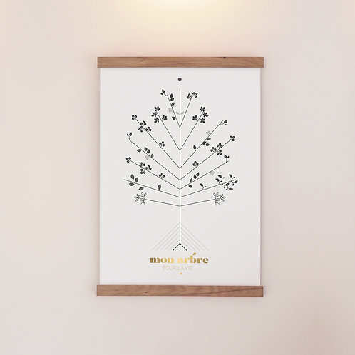 """L'affiche Arbre pour la Vie """"Conception & PMA"""" - coffret premium"""
