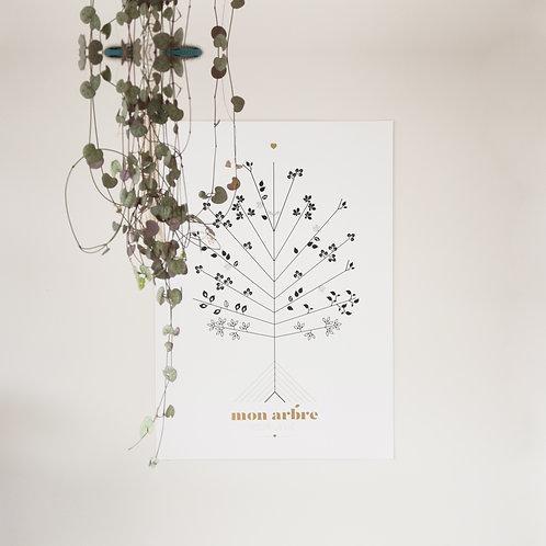 """L'affiche Arbre pour la Vie """"Conception & PMA"""" - coffret classique"""