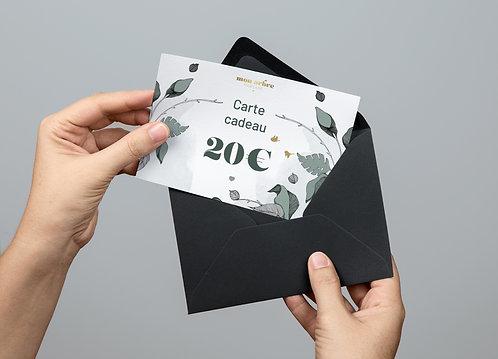 Carte cadeau 20€ (envoi par email)