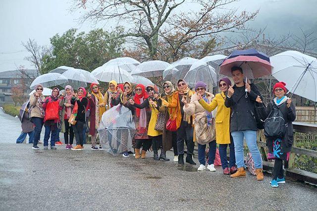Today is little bit Rain but we love this place 😍 #Arashiyama