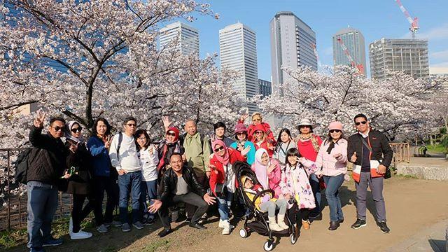 Sakura Trip with all of our seasonal Guests 😉😊#Sakuratrip #japantour #japantour #japanmurah #paketjepang #pakejjepun #tourjepang #wisatajepa