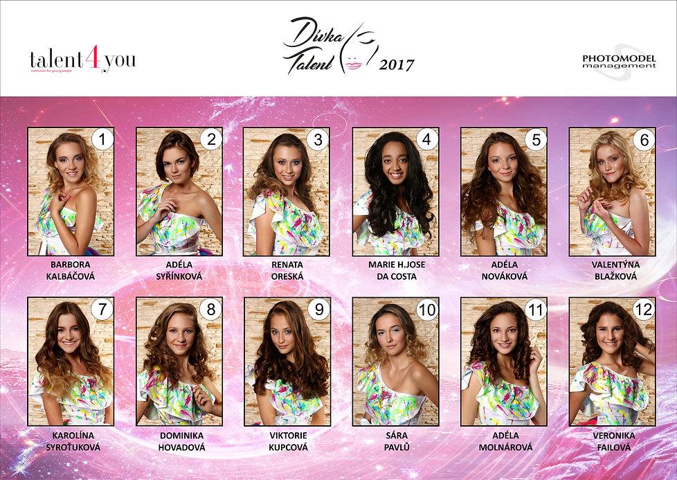 Talent4You - Dívka talent vítězky a finalistky 2017