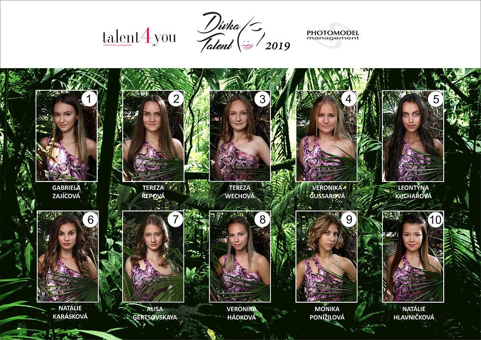 Talent4You - Dívka talent vítězky a finalistky 2019