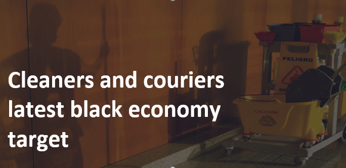 Cleaners and couriers latest black economy target