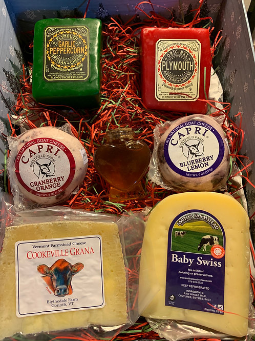 Holiday Cheese & Honey Gift Box