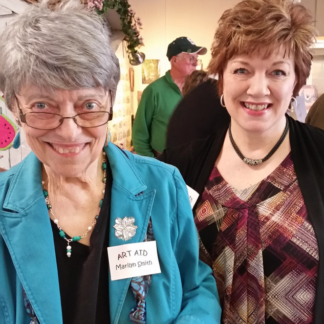 Marilyn Smith and Julie BeVier - Art Aid