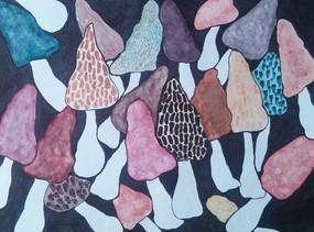 Watercolor Card Mushrooms - Wolfe.jpg