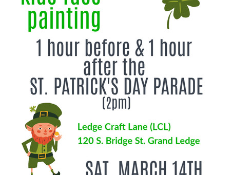 Face Painting at LCL for St. Patrick's Day Parade