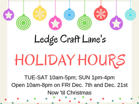 Christmas Holiday Hours at LCL