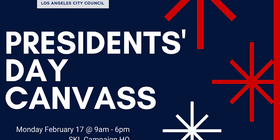 Presidents' Day Canvass - Mid-Day
