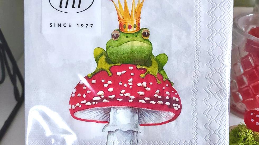 Serviette Froschkönig klein