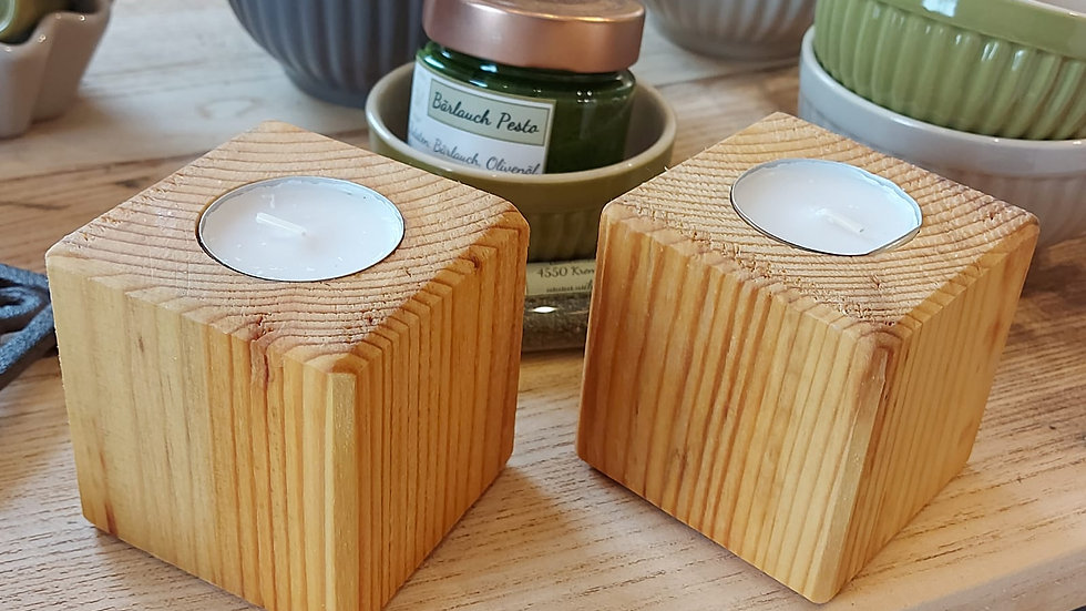 Altholz Teelichthalter