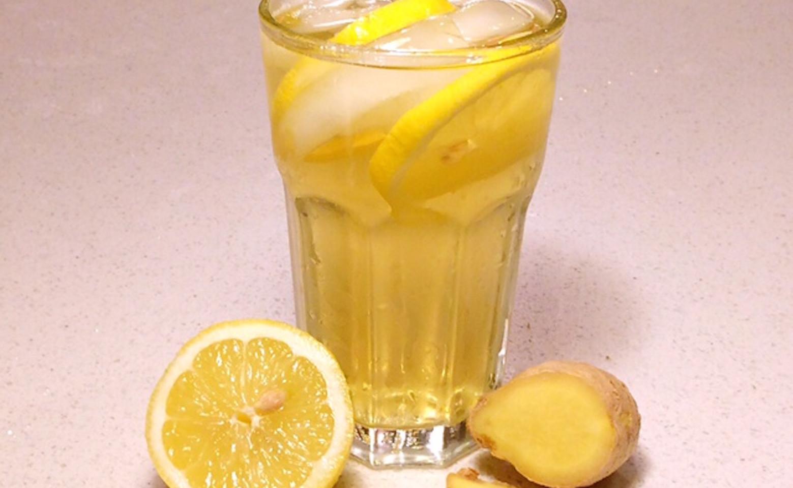 Iced Lemon Ginger Green Tea