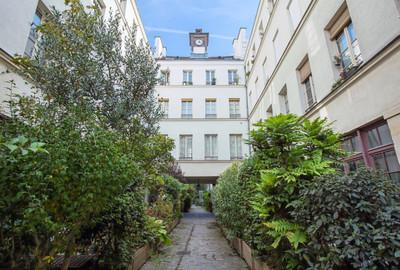 Façade immeuble appartement duplex vendu rue Amelot à Paris