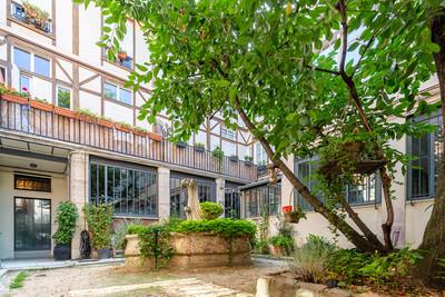 Cour intérieur appartement vendu rue de la folie méricourt à Paris par Story's Immobilier