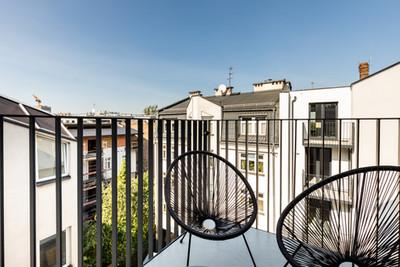 Terrasse appartement vendu à Cracovie pour un investissement immobilier à Podgórze par Story's Immobilier