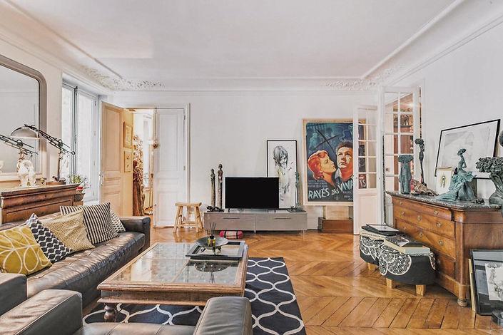 Séjour appartement vendu par story's boulevard Voltaire paris 11
