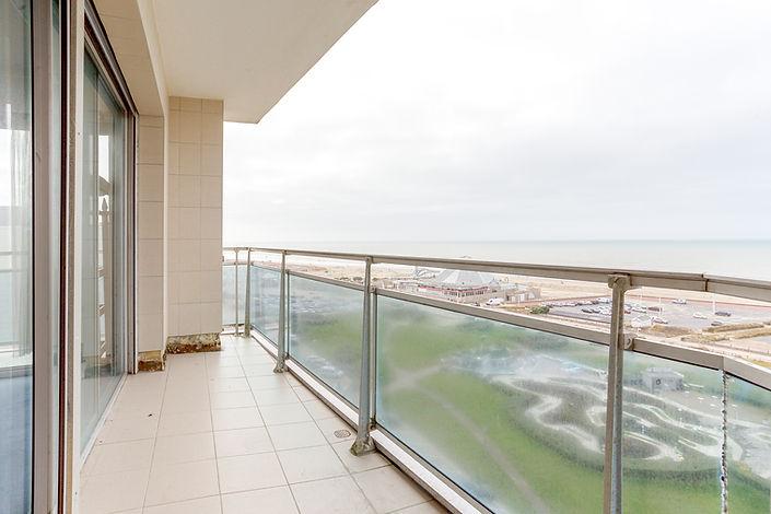 terrasse vue mer appartement au Touquet face mer et vendu par Story's Immobilier