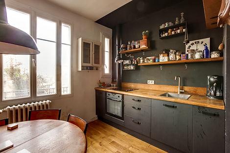 Cuisine appartement vendu par Story's Petite Ceinture Paris