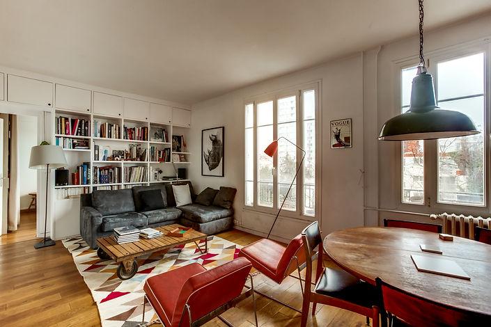 Salon appartement vendu par Story's Petite Ceinture Paris
