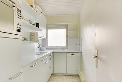 cuisine vue mer appartement au Touquet face mer et vendu par Story's Immobilier