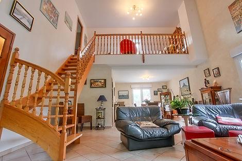 séjour villa Hardelot vendue par Story's Immobilier