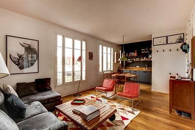 Salle à manger appartement vendu par Story's Petite Ceinture Paris