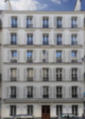 façade immeuble paris style restauration fenêtre architecture histoire