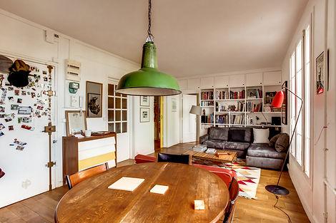 Séjour appartement vendu par Story's Petite Ceinture Paris
