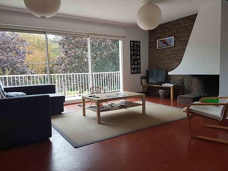 Séjour villa vendue par Story's Immobilier à Hardelot.
