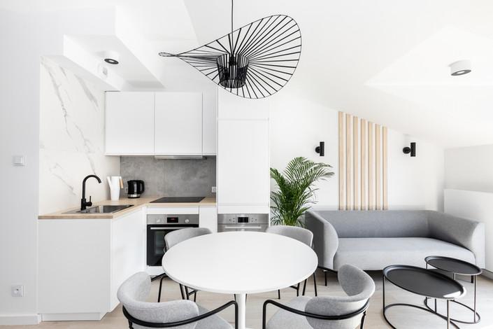 Cuisine appartement vendu à Cracovie pour un investissement immobilier à Podgórze par Story's Immobilier