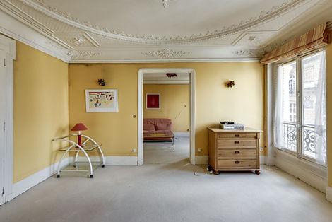 Séjour appartement rue des bourdonnais Paris Les Halles vendu par Story's
