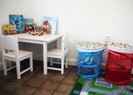 Wartebereich für die kleinen Patienten