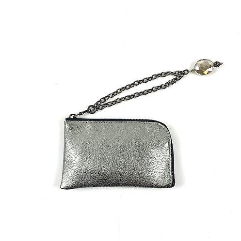 MINI WALLET silver & wristlet