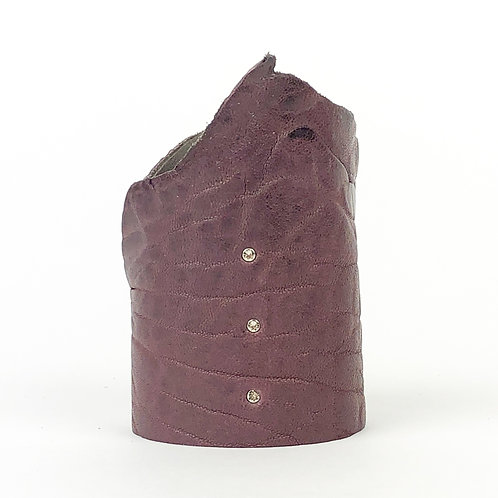 LEATHER CUFF dark mauve