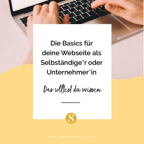 Die Basics für deine Webseite als Selbständige & Unternehmerin