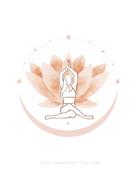 Digital Yoga Illustration