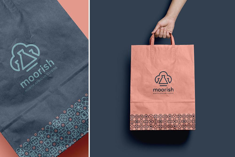 Brandpattern for moorish restaurant, packaging design.