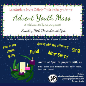 Advent Youth Mass - Sunday 16th December, 6pm