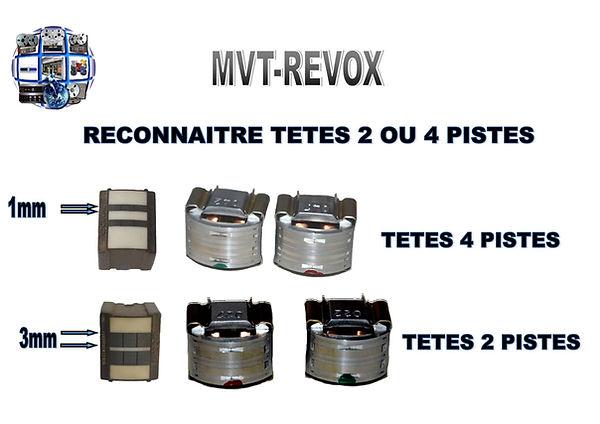 TETES REVOX 2 PISTES OU 4 PISTES MVT-REVOX